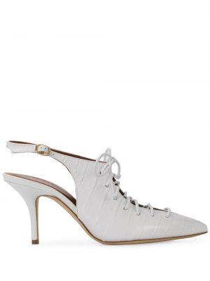 Кожаные туфли с пряжкой жёлтые Malone Souliers