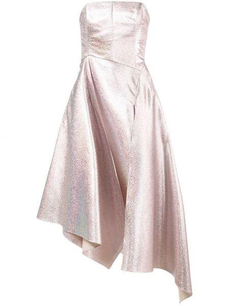 Różowa sukienka z jedwabiu Osman