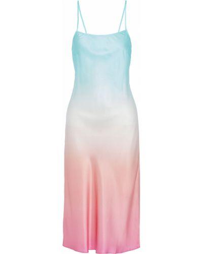 Шелковое платье миди - синее Seafolly