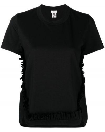 Хлопковая черная футболка с короткими рукавами Comme Des Garçons Noir Kei Ninomiya
