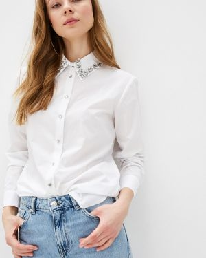 Рубашка с длинным рукавом белая River Island