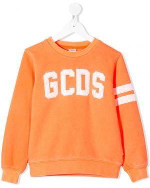 Оранжевый свитшот Gcds Kids
