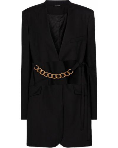 Шерстяной черный пиджак Givenchy