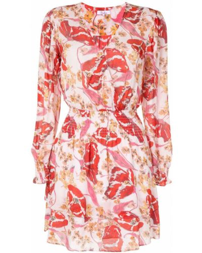 Шелковое платье макси - розовое Parker