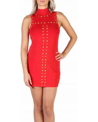 Czerwony sukienka bez rękawów Guess