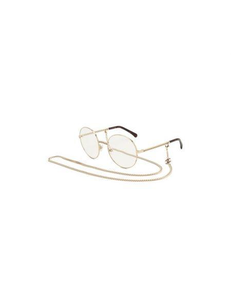 Очки металлические золотые Chanel