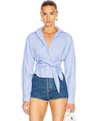 Хлопковая синяя рубашка в полоску Marissa Webb