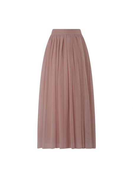 Różowa spódnica maxi tiulowa rozkloszowana Lace & Beads