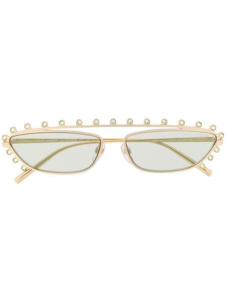 Прямые желтые солнцезащитные очки металлические Marc Jacobs Eyewear