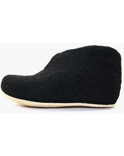 Тапочки шерстяные черный Snegi