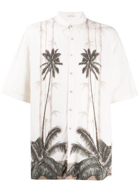 Классическая рубашка с короткими рукавами с воротником свободного кроя на пуговицах Pierre Cardin Pre-owned
