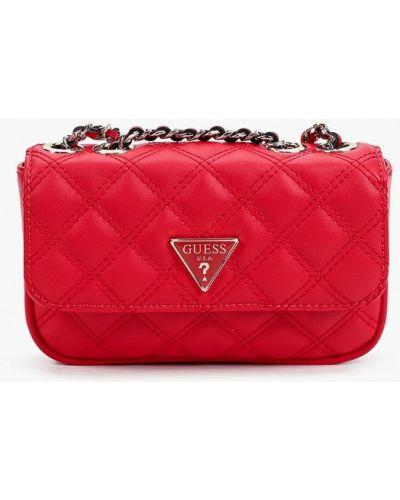 Красная сумка осенняя Guess