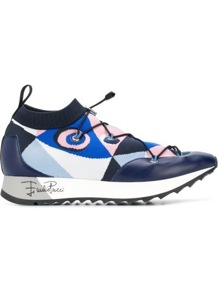 Sneakersy z logo Emilio Pucci