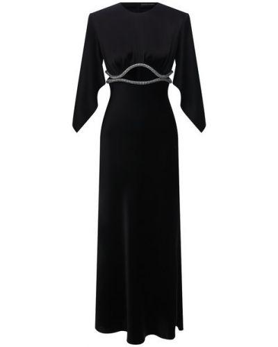 Платье из полиэстера - черное David Koma