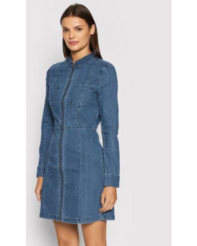 Niebieska sukienka Noisy May