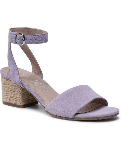 Fioletowe sandały espadryle Ryłko