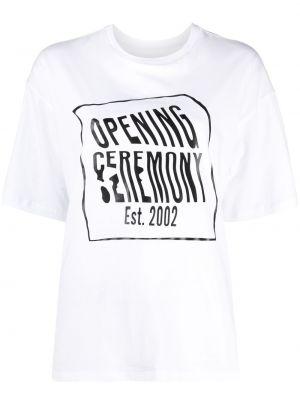 Ватная хлопковая белая рубашка Opening Ceremony