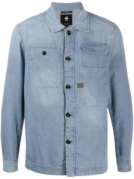 Классическая рубашка с карманами с воротником на пуговицах G-star Raw