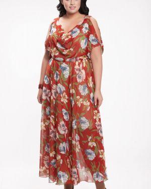 Платье футляр с декольте прима линия