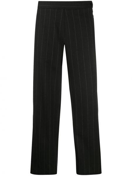 Свободные шерстяные черные свободные брюки свободного кроя Odeeh