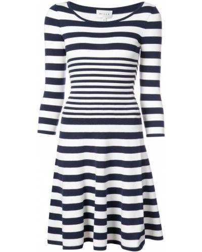 Платье в полоску с вырезом Milly