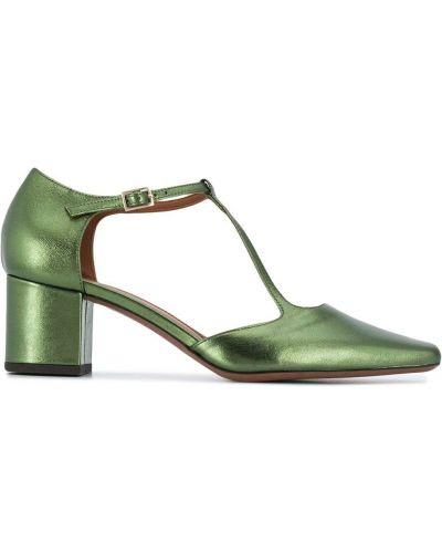 Зеленые туфли-лодочки на каблуке с квадратным носком L'autre Chose