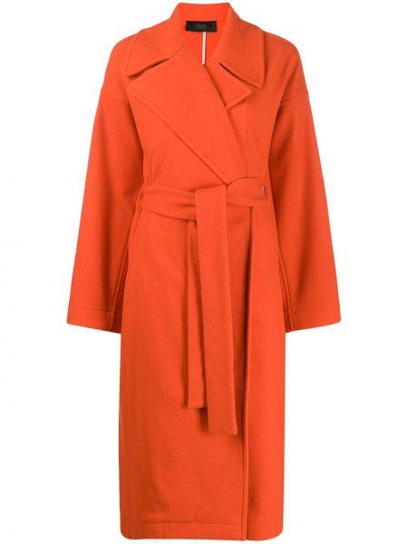 Кашемировое длинное пальто оверсайз с капюшоном Maison Flaneur