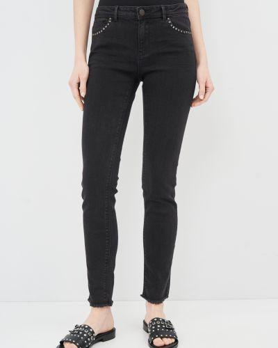 Черные джинсы-скинни с карманами с заклепками Springfield