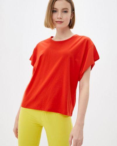 Красная футболка с короткими рукавами Colcci