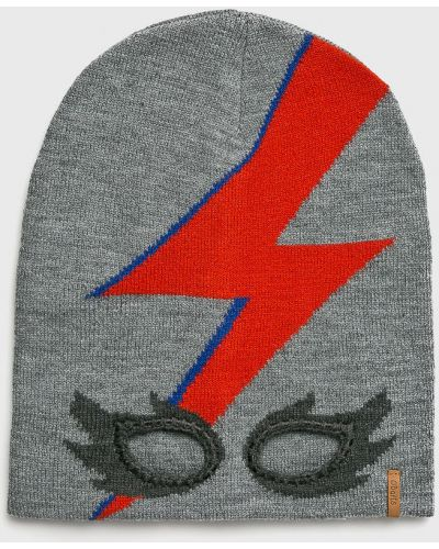 Зимняя шапка серая с узором Barts