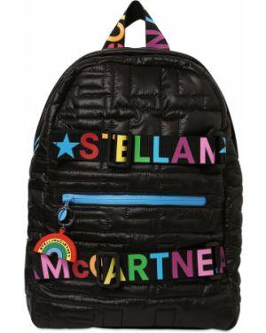 Czarny plecak pikowany z nylonu Stella Mccartney Kids