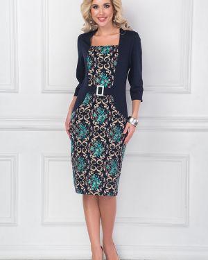 Платье с поясом с баской платье-сарафан Bellovera