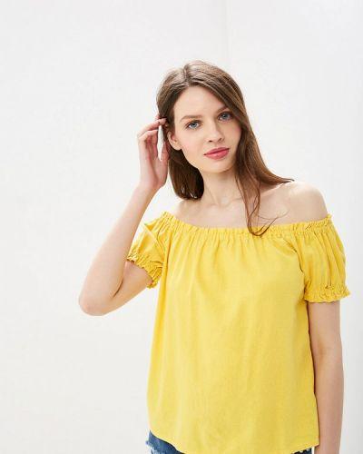 Блузка с открытыми плечами желтый весенний Vero Moda