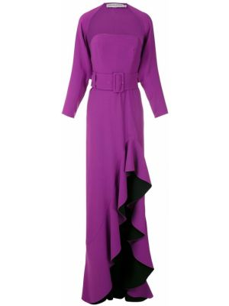 Вечернее платье с оборками длинное Reinaldo Lourenço
