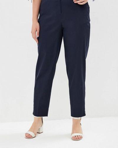 Синие брюки с завышенной талией Violeta By Mango