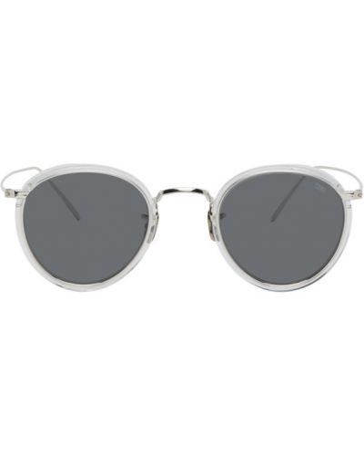 Солнцезащитные очки круглые прозрачные металлические Eyevan 7285