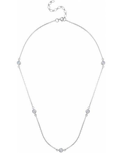 Серебряное колье с фианитом Serebriciti Jewelry