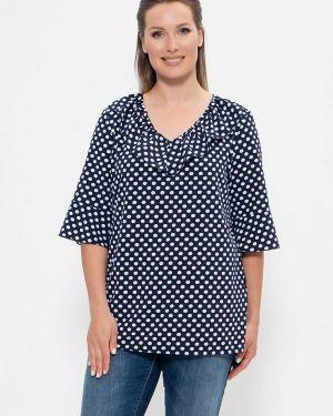 Блузка синяя весенний Cleo