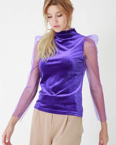 Фиолетовая кофта осенняя Lussotico