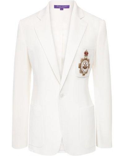 Шерстяной пиджак - белый Ralph Lauren