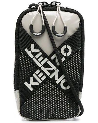 Czarny torba kosmetyczna z kieszeniami z siatką Kenzo
