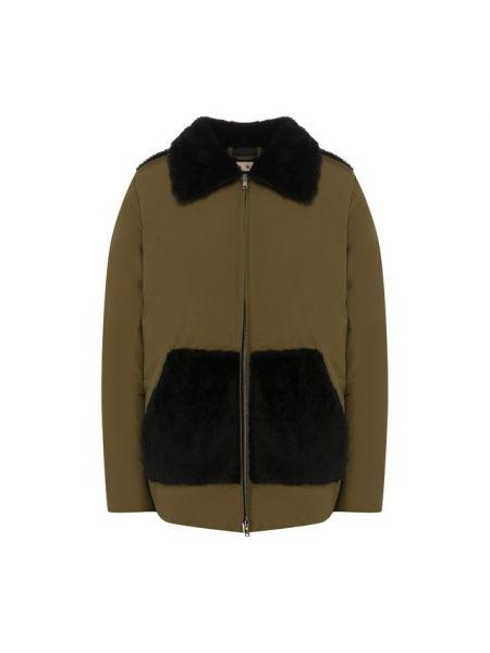 Куртка с кокеткой на овчине Marni