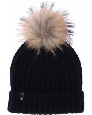 Prążkowany czarny kapelusz wełniany Mackage