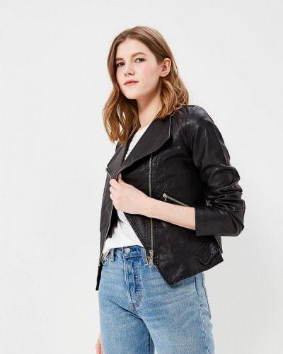 Кожаная куртка весенняя черная So Sweet