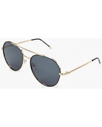Очки авиаторы солнцезащитные золотой Fabretti