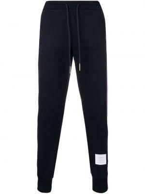 Niebieskie joggery bawełniane w paski Thom Browne