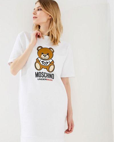Белое платье Moschino