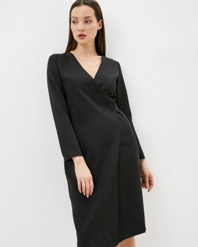 Черное платье с запахом Pink Summer