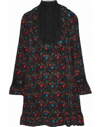 Черное кружевное платье Anna Sui
