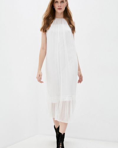 Повседневное белое повседневное платье Mcq Alexander Mcqueen